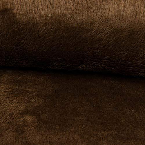 Stoffe Werning Teddystoff glatt Uni braun Plüschstoff Plüschteddy einfarbig - Preis Gilt für 0,5 Meter