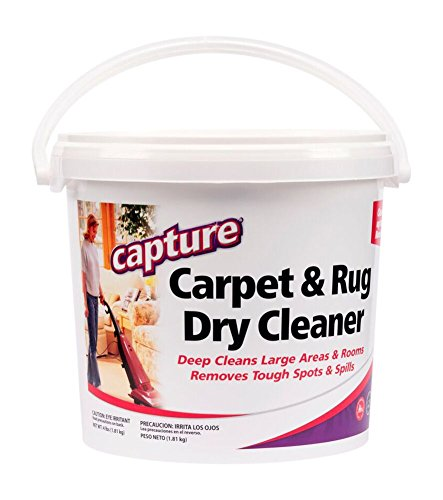 Capture Carpet Dry Cleaner Powder 4 lb - Deodorize Allergens, Stain Smell Moisture from Rug Furniture Clothes and Fabric, Pet Stains Odor Smoke and Allergies Too