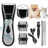 SNAHIKE Cortapelos Perros, Cortapelos para Mascotas, Podadoras para Peluquería Canina Lavable, Kit de Aseo a Prueba de Agua con Cuchillas Dobles Juego de Recortadora Eléctrica Profesional Lavable