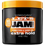 SoftSheen-Carson Let's Jam! Shining and Conditioning Hair Gel by Dark and Lovely, Extra Hold, All Hair Types, Styling Gel Great for Braiding, Twisting & Smooth Edges, Extra Hold, 4.4 oz