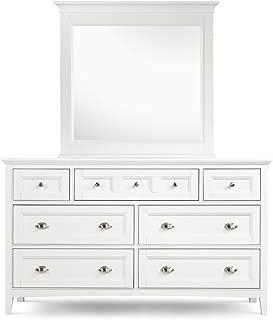 Magnussen Furniture Dresser & Mirror Set in White - Kentwood Collection