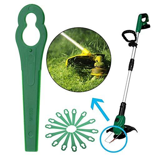100PCS Trimmer Head Durable Plastic Blades Razor Universal Outdoor Garden Grass Lawn Machine Parts Replacement Mower for Bosch Einhell Lawn Mower,Grass Trimmers Accessary Gift for Gardener