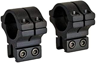 BKL 263 1in Long Dovetail Ringmounts for 1in Scopes, Matte Black