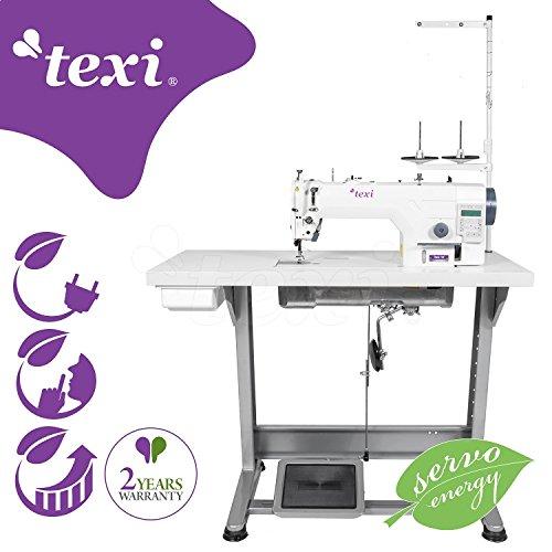 TEXI Tronic 7 NF - industriële naaimachine - naaldtransport - volwaardig design - vergroot werkveld - compleet (met tafel en frame) NIEUW!