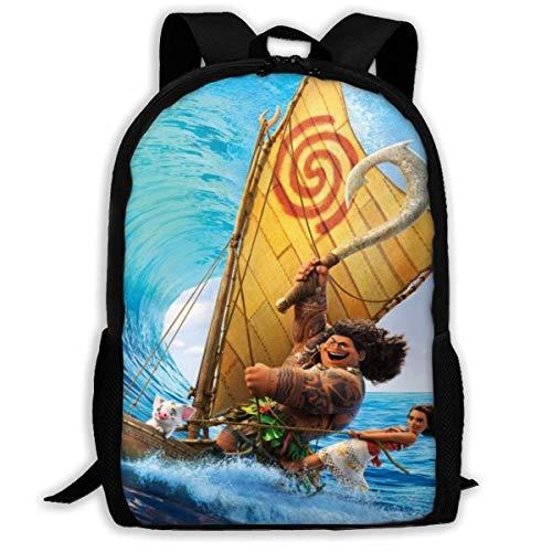 Ahdyr Mochila de Dibujos Animados Ocean Romance Moana Mochila de Viaje Laptop Bookbag Capacidad Ligero Papelería Monedero Bolsa