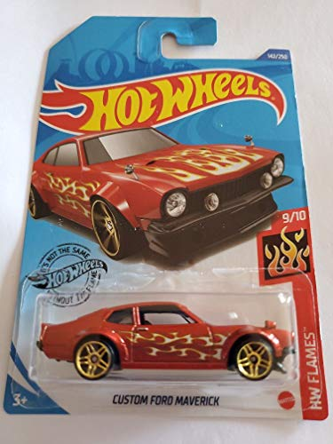 Hot Wheels 2020 Hw Flames Custom Ford Maverick, Red 142/250
