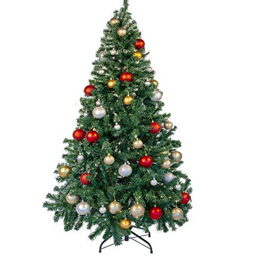Uten 210 cm Weihnachtsbaum Grün Künstlicher Tannenbaum Christbaum grün Tanne Weihnachtsdeko Kunsttanne mit Metallständer