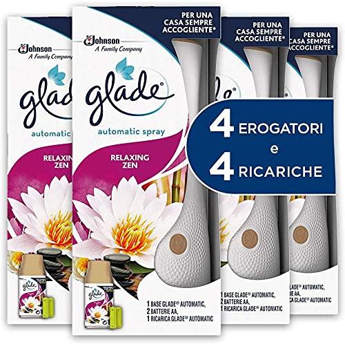 Glade Automatic Spray Base con Ricarica Fragranza Relaxing Zen, Confezione da 1 Erogatore + 1 Ricarica 269ml