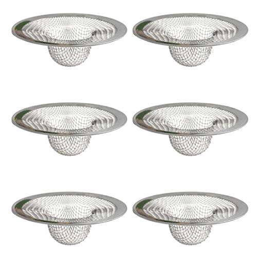 N\O 6 Pezzi Filtro Lavello, Acciaio Inox 316 Filtro per Lavello da Cucina, Filtro per Doccia lavandino, Bagno Filtro Capelli, filtri per lavandini, Vasca da Bagno o lavelli da Cucina(Φ7cm)