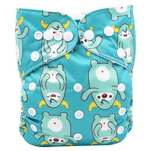 PFGO waschbare Windeln, wiederverwendbar, Stoffwindeln, Trainingshose, für Kleinkinder, Urin-Absorption, Unterwäsche, wasserdicht, digital bedruckt, Babywindel, verstellbar (0–3 Jahre)