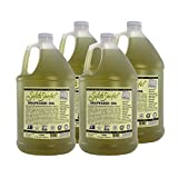 Salute Sante! Cold Pressed Grapeseed Oil for High Temperature Cooking, Healthy Grape Seed Oil, Non-GMO and Kosher for Salad Dressings, Marinades and Dips (1 Gallon, 4 Pack)