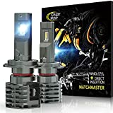 Cougar Motor H7 LED Bulb, 10000LM Noiseless 6500K Cool White All-in-One Conversion Kit Direct Installation, Halogen Replacement