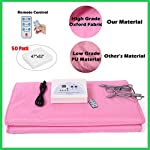 Montex Sauna Blanket Infrared Sauna 2 Zone with Overheating Protection Infrared Sauna Blanket with 50 Body Wraps, Oxford Fabric for Weight Loss Home Beauty, Pink/Silver/Red (Pink)