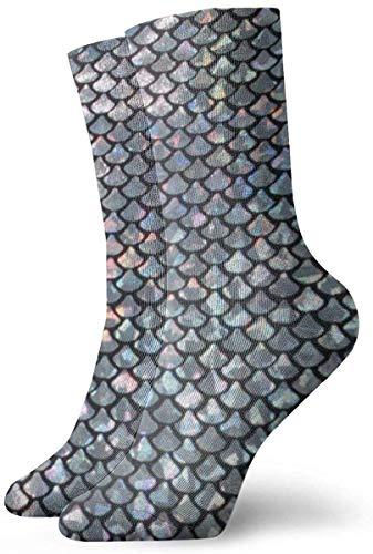 Tammy Jear Swtach-Silver-fish-scale-600x600 Short Crew Socks Dress Socks Athletic Socks