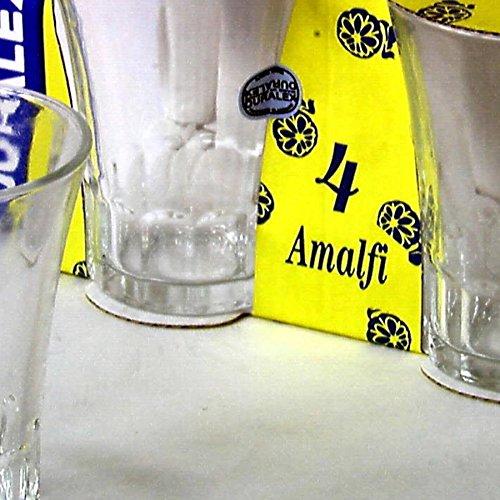Duralex 5150013 Set 12 x 4 Bicchieri in Vetro Amalfi cl13 Arredo tavola