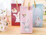 Papierdrachen Set de Bolsas de Regalo Pegatinas - Motivo Conejo de Pascua - Set de Bolsas n.º 9