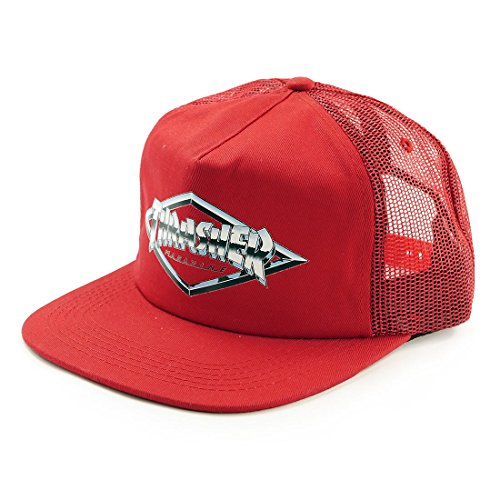 GORRA THRASHER DIAMOND EMBLEM TRUCKER RED
