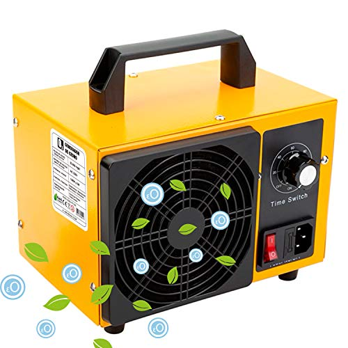 Generico O3 Compact Prime Blue 36.000 MG/HR 220v, Limpiador de ozono, Dispositivo de ozono para Habitaciones, Humo, Coches y Mascotas.Tecnologia Honey-Comb-Tec © (Plus 36.000 MG/h)