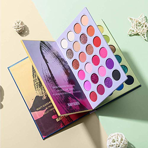 Beauty Glazed 72 Colors Eyeshadow Palette High Pigmented Waterproof Easy to Blend Eyeshadow Shimmer...