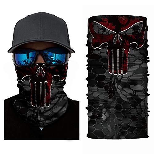 WFLJ 10 stuks naadloos gezicht masker motormasker, slangsjaal van microvezel, voor hardlopen, wandelen, fietsen motorrijden, willekeurige stijl