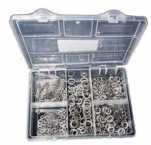 Sortiment Federringe DIN 127 Edelstahl VA2 550 Teile M3, M4, M5, M6, M8, M10
