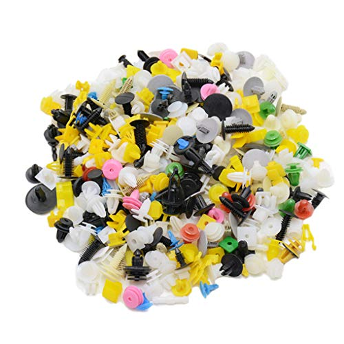 zhibeisai 200pcs Color Random Plastic Rivets Car Fender Bumper Interior Panel Push Pin Clips Fastener
