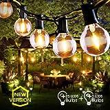 Lichterkette Außen FOCHEA Lichterkette Glühbirnen G40 9.5m 25er Globe LED Birnen Lichterkette...