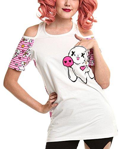 Luv Bunnys - Camiseta sin Mangas - para Mujer Blanco Small