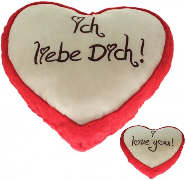 Kingdiscount 2 Stück Plüsch Herz Liebesherzen red 100 cm