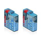 Wicked Chili 2X Batteria GOP-801 Compatibile con GoPro Hero8 Black, Hero7 Black, Hero6 Black, Hero5 Black e...
