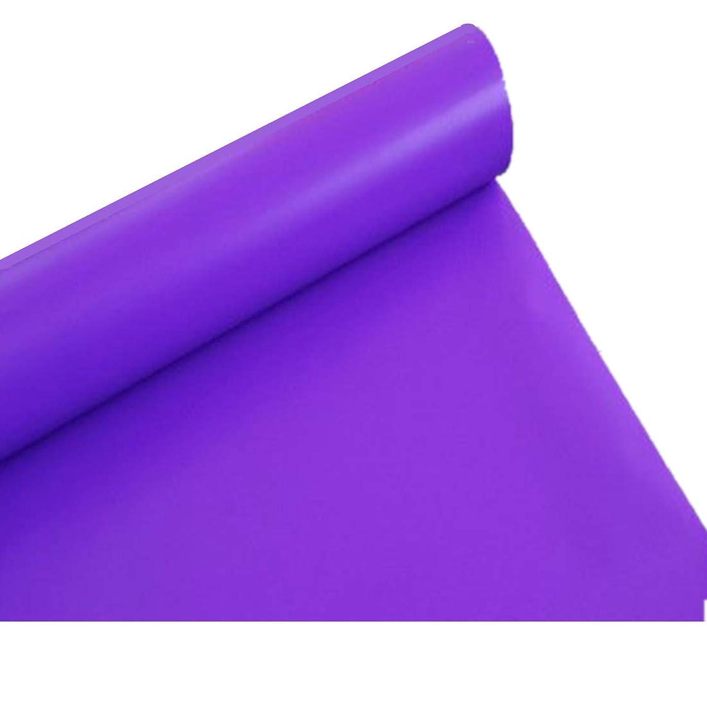 傑出した年齢パイプライン【ノーブランド品】 簡単 模様替え 防水 単色 壁紙シール 45cm幅 × 10m (パープル)