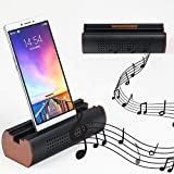 Cell Phone Stand Holder Aluminum Alloy Cell Phone Stand Sound Amplifier Phone Dock Stands Compatible Phone XS Max XR X 7 8 Plus and Android Smartphones Within 5.5 Inches (Black)