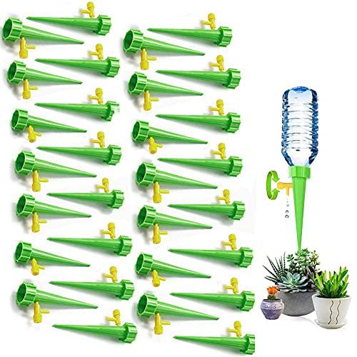 Sunshine smile Riego por Goteo Automático Kit, Sistema de Riego por Goteo de Riego, Ajustable Dispositivo de Riego por Ggoteo, Válvula de Control de Liberación Lenta (Verde)