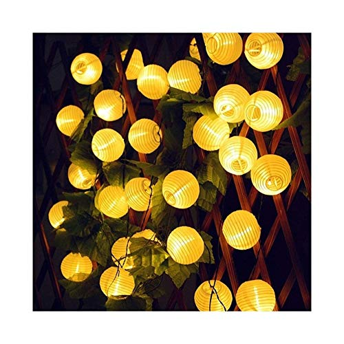 NXWL Outdoor String Lights 10/20/30 LED Globe Ball Solar String Light Outdoor Christmas Holiday Garden Lantern Ball Solar Fairy Garland Light Garden Decor (Color : Warm White, Size : 20LED)