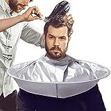 Voarge Mantellina Parrucchiere, Vestiti da parrucchiere tintura parrucchiere taglio di capelli mantello tridimensionale traspirante panno, Adulti e Ragazzo, Grigio Argento