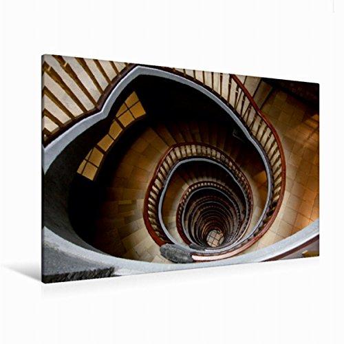 CALVENDO Premium Textil-Leinwand 120 cm x 80 cm quer, EIN Motiv aus dem Kalender Treppen und Treppenhäuser   Wandbild, Bild auf Keilrahmen, Fertigbild auf Leinwanddruck: Treppenhaus Orte Orte