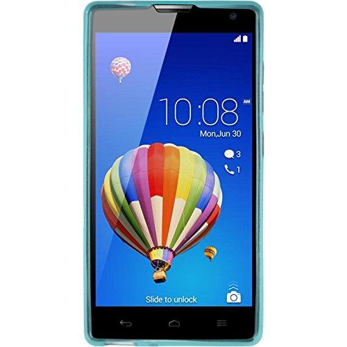 PhoneNatic Case kompatibel mit Huawei Honor 3C - türkis Silikon Hülle transparent + 2 Schutzfolien - 2