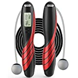 Jump Rope, Adjustable Weights/Length Digital Counting Skipping Rope, with Calorie Counter, Exercise Cordless Ball, for Fitness, Workout, Home, Outdoor, for Men,Women, Kids