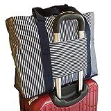 Blue ISLAND キャリーオンバッグ 旅行バッグ トラベルバッグ レディース メンズ 兼用 旅行バッグ 軽量 収納バッグ 旅行用品 (ボーダーネイビー)