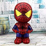 HIL Gran Capacidad Hucha, Hucha Vengadores, Home Living Arte De La Resina Alcancía, Decoración Decoración De Escritorio del Regalo De Cumpleaños, Spiderman
