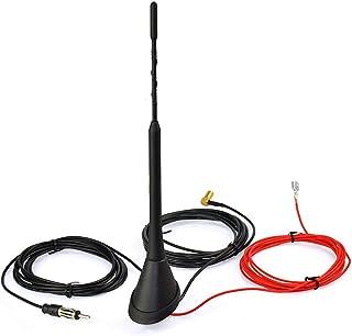 qhtongliuhewu Amplificateur de Signal Antenne Radio de Voiture t/élescopique /à 5 Sections antenne FM//AM