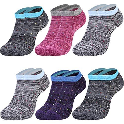 L&K 6 Paar Damen Thermosocken mit Innenfrotttee Wintersocken Sneaker Socken 2033 35-38