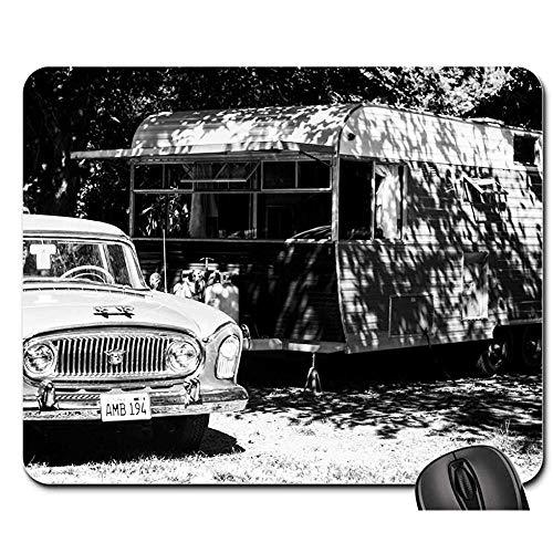 Schreibtischunterlage,Anhänger-Altes Auto-Weinlese-Reise-Reise-Anhänger-Alte Ins Auge Fallende Spiel-Mausunterlage 25X30Cm