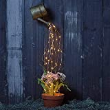 Lámpara de cuerda de vides de cuento de hadas LED navideña impermeable para pasarela, jardín, patio, césped, ducha de estrellas, luces de jardín, luz artística, regadera solar para exteriores, decora