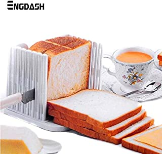ENGDASH 1pc Plastic Foldable and Adjustable Bread Slicer Toast Loaf Sandwich Cutter Mold Baking Tools Kitchen Gadgets Tool