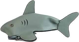 Lovely Shark Shaped Leather Crossbody Cell Phone Purse Mini Casual Handbag For Teen Girls.