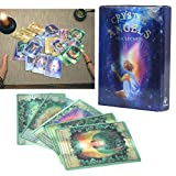 There is a beautiful original painting on each card, and there are detailed messages on each card, conveying exciting information and gentle suggestions. Light weight and in small size, you can put cards in the box for easy storage, perfect family ga...