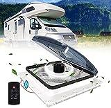 TTLIFE Ventilateur de toit pour VR 12V Ventilateur de camping-car Admission et échappement à 3 vitesses -...