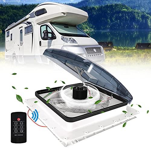TTLIFE Ventilador de ventilación de techo RV 12V Ventilador de autocaravana Entrada y escape de 3...