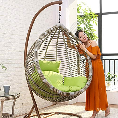 N/Z Living Equipment Schaukelstühle Balkon Einzelvogelnest Lazy Chair Hängemattenwiegestuhl Indoor Swing Schaukelstuhl (Farbe: Weiß Größe: 105x202cm)